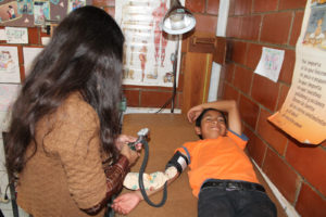 Pulse being taken at the NPH clinic