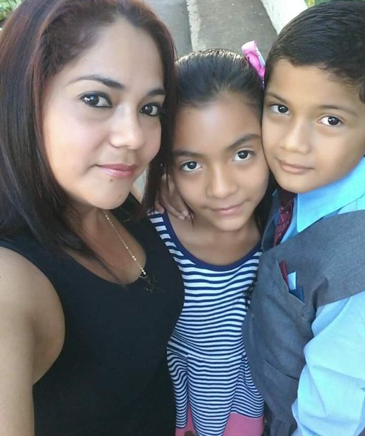 Brenda with 2 of her children
