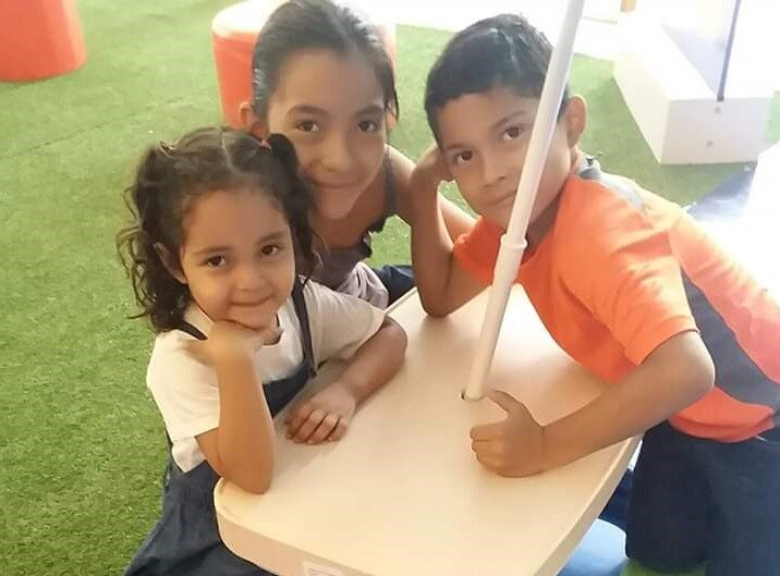 Brenda with her children