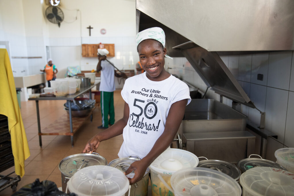 Producing a meal at NPH Dominican Republic