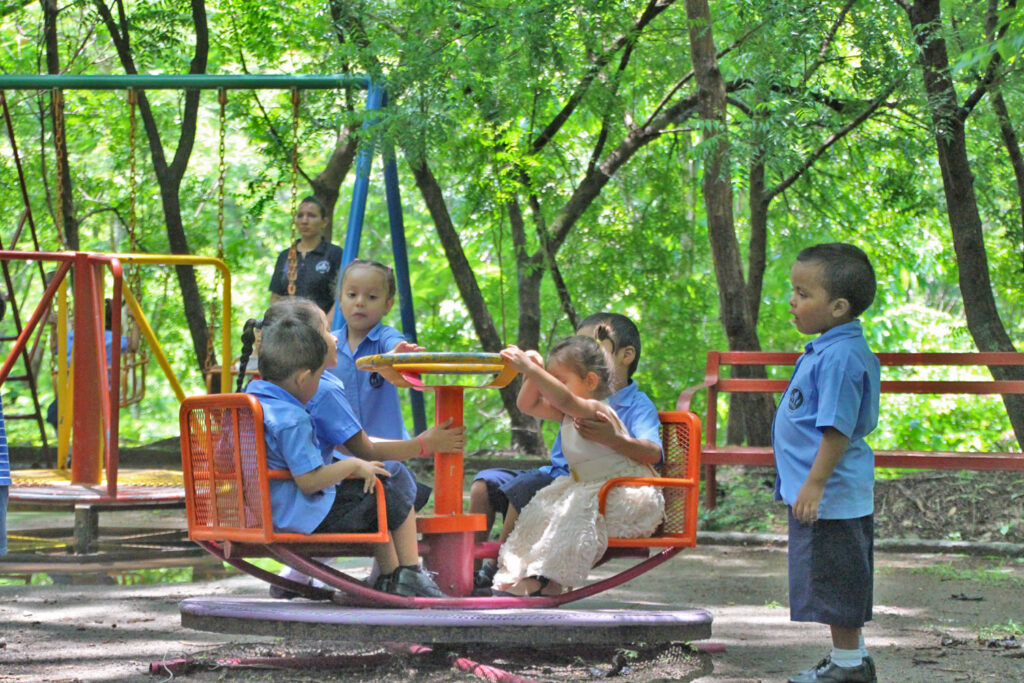Community children enjoy the NPH El Salvador play areas