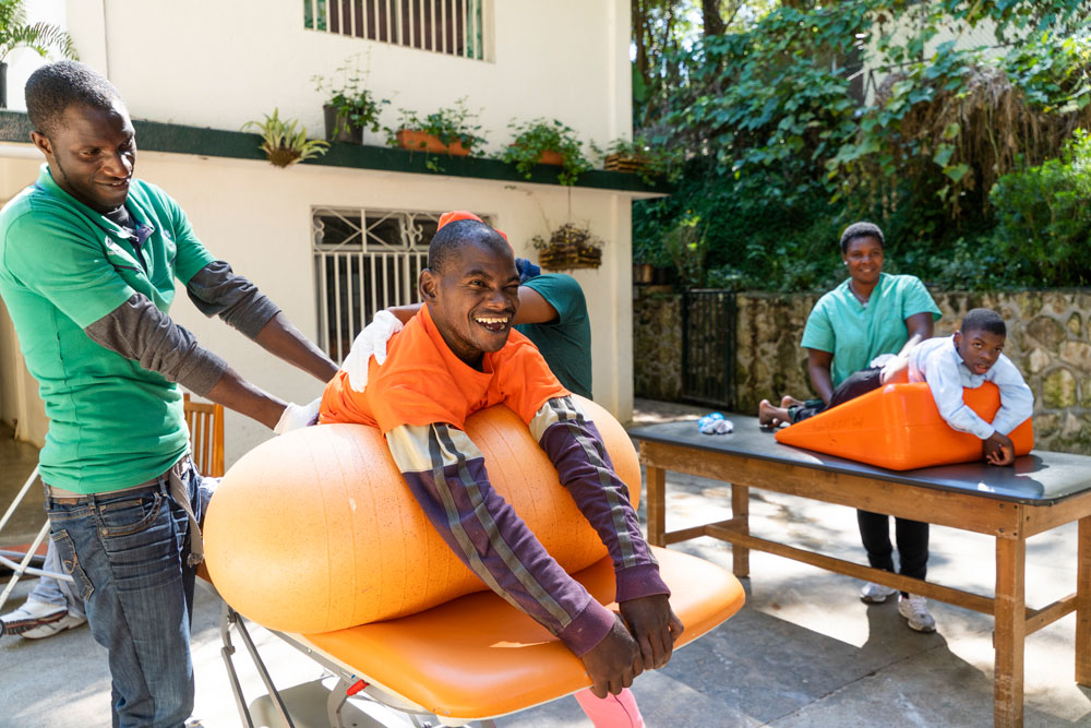 Patients receiving therapy at NPH Special Needs