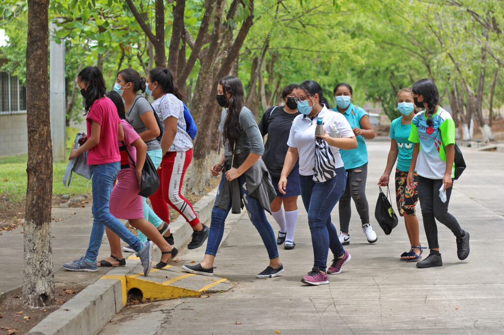 Young people returning to school at NPH El Salvador after the pandemic
